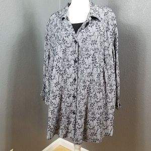 Maggie Barnes Tops - Maggie Barnes Two Fer Blouse Top Tank 32W New